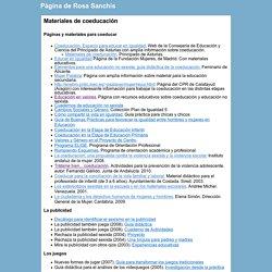 Materiales de coeducación - Pàgina de Rosa Sanchis