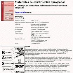 Materiales de construcción apropiados