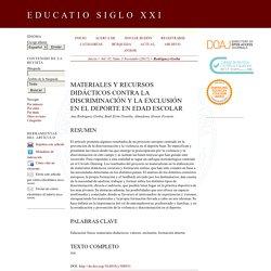 Materiales y recursos didácticos contra la discriminación y la exclusión en el deporte en edad escolar