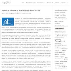 Acceso abierto a materiales educativos