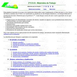 Materiales de apoyo para la Física y Química de 3º ESO