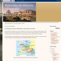 Materiales de Historia y Geografía: La Primera Guerra Mundial: materiales de clase