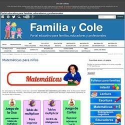Materiales de matemáticas para niños