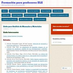Links para Análisis de Manuales y Materiales