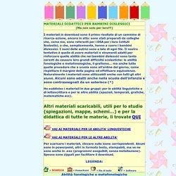 materiali didattici dislessia