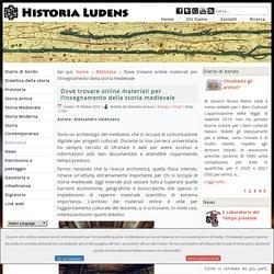 Dove trovare online materiali per l'insegnamento della storia medievale
