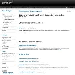Materiali didattici - Linguistica generale