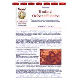 Il mito di Orfeo ed Euridice, di Giulia Grassi. Materiali didattici di Scuola d'Italiano Roma a cura di Roberto Tartaglione