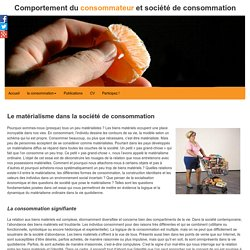 Matérialisme et société de consommation