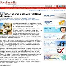 Le matérialisme nuit aux relations de couple