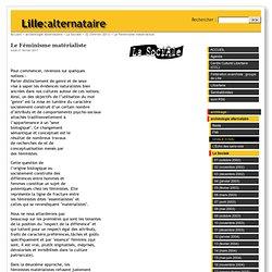 Le Féminisme matérialiste - Lille:alternataire