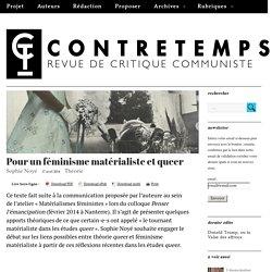 Pour un féminisme matérialiste et queer – CONTRETEMPS