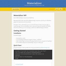 Materializer by CodyReichert