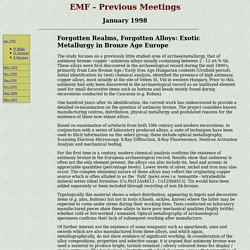 Early Materials Forum - abstracts - P. Maclean