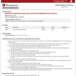 Disseny de materials didàctics i entorn d'aprenentatges digitals - AP4WTIC2