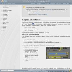 Doc:ES/2.6/Manual/Materials/Assigning a material