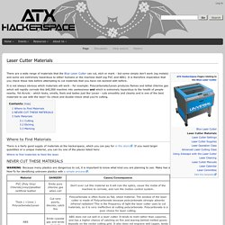 Laser Cutter Materials - ATXHackerspace