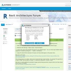 Solved: Apply Revit materials to DWG import in Revit family - Autodesk Community