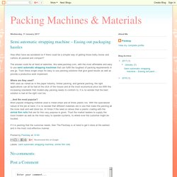 Packing Machines & Materials: Semi automatic strapping machine – Easing out packaging hassles