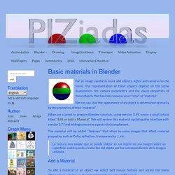 Materiales básicos en Blender
