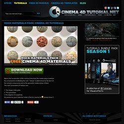 rock materials pack cinema 4d tutorials « Cinema 4D Tutorials