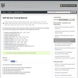 SAP Materials, Documents, Tutorials