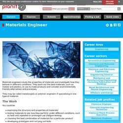Materials Engineer Chemical and Materials Engineering