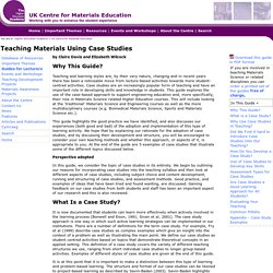 Teaching Materials Using Case Studies