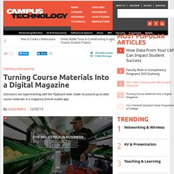 Turning Course Materials Into a Digital Magazine