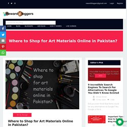 Where to Shop for Art Materials Online in Pakistan?