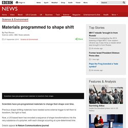 Materials programmed to shape shift