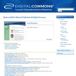 Books and Other Materials Published with Digital Commons