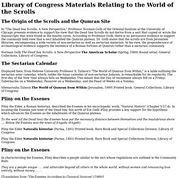 Materials Relating to World of the Scrolls