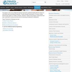 Materials Science Publications - Trivedi Science