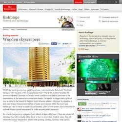 Building materials: Wooden skyscrapers