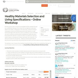 Healthy Materials Selection and Living Specifications Online