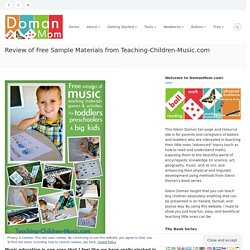Review of Free Sample Materials from Teaching-Children-Music.com