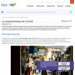 [FR] La matériauthèque de l'EnsAD
