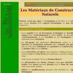 Matériaux de construction naturels