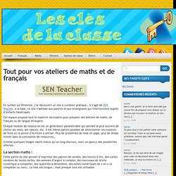 Matériel pour les ateliers de maths et de français