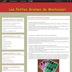 Le matériel : les boîtes de couleur - Le blog de Les petites graines de Montessori