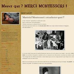 Matériel Montessori : où acheter quoi ?