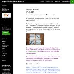 Matériel Montessori : plier les mouchoirs