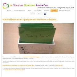 Matériel Montessori - WordPress