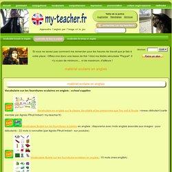 matériel scolaire en anglais