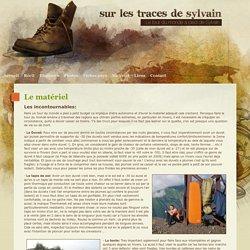 Matériel - Le tour du monde a pied et a velo de Sylvain