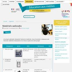 Matériels webradio