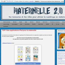 TOP 5 des applications iPad pour la maternelle