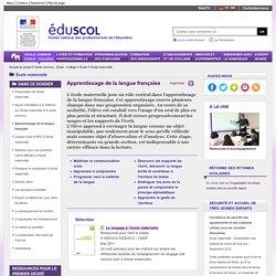 Domaines d'activités - S'approprier le langage, découvrir l'écrit - ÉduSCOL