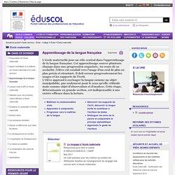 École maternelle - Apprentissage de la langue française